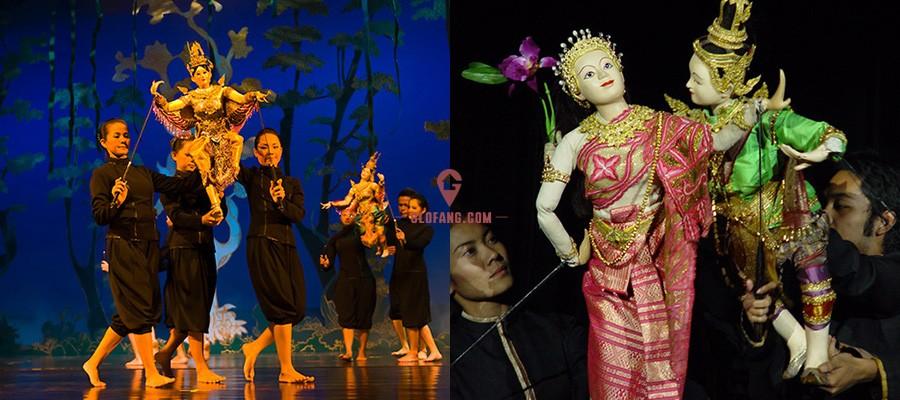 silapin传统的泰国木偶戏