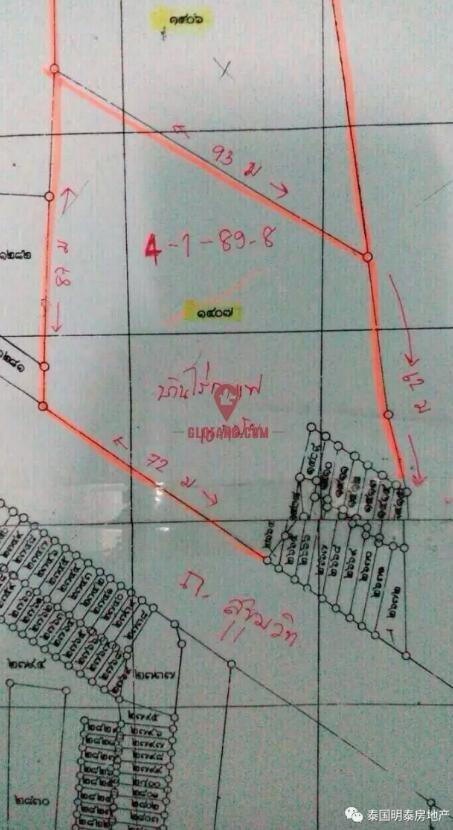 曼谷 轻轨站 Ekkamai旁最后一块大面积土地,编号5251