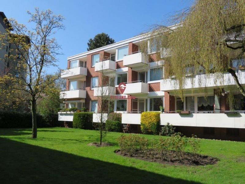 德国汉堡近市中心宽敞明亮新装修1室公寓 ID10074