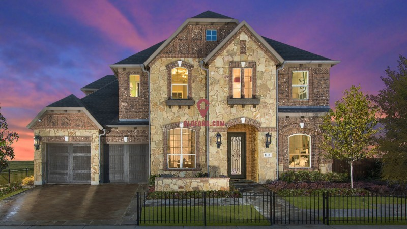 美国达拉斯,大型高档社区菲利普斯庄园独栋别墅
