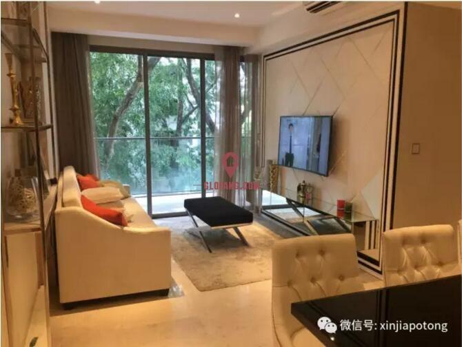 新加坡近诺维娜永久地契高档项目,优质地段,1房108.4万起,编号9771