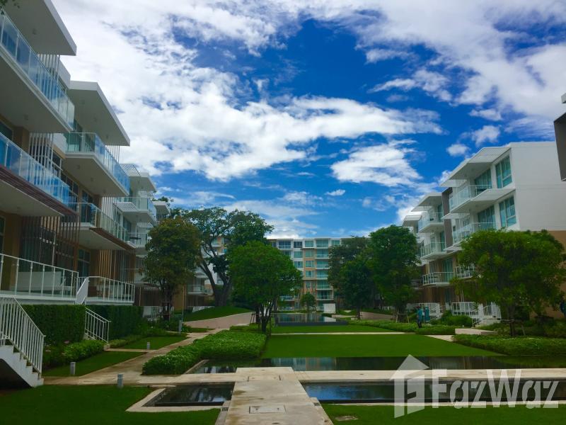 2床公寓出售和租在考陶,华欣与花园,游泳池,部分海景