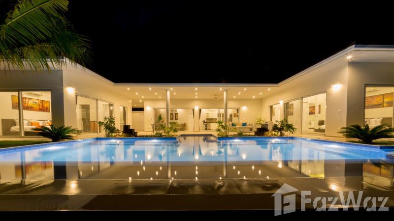 华欣市,华欣与花园,游泳池,绿色景观出售3床别墅