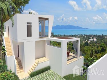 4卧室别墅出售在波普,苏梅岛与花园,游泳池,海景,编号11865