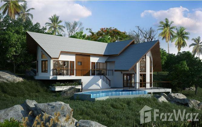 3卧室别墅出售在Laem Set,苏梅岛与山,海景