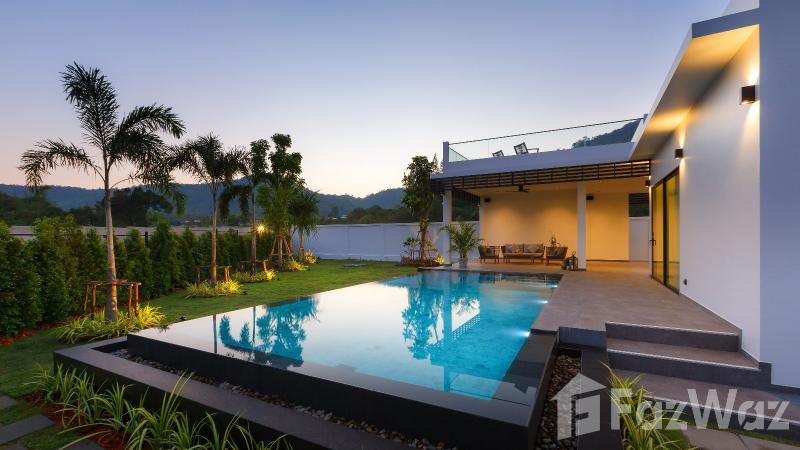 华欣海滩,华欣与山,游泳池,花园景观出售3床别墅