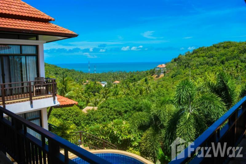 4卧室别墅出售Bang Po,苏梅岛,花园,山,游泳池,海,绿色景观