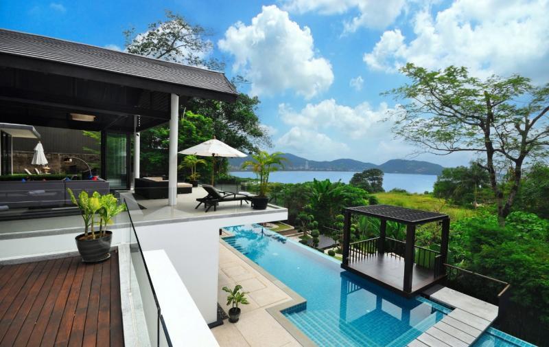 6床别墅出售和租金Kalim,普吉岛与花园,山,游泳池,海景