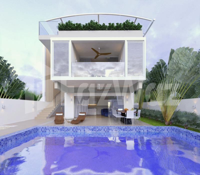 3卧室别墅待售在梅南,苏梅岛与花园,游泳池,绿色景观