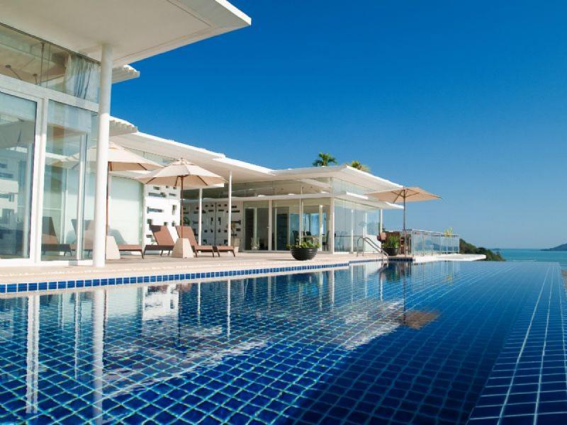 4卧室别墅出售和出租在普吉岛Cape Yamu,有山,游泳池,海景