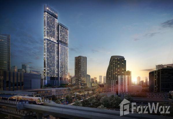 城市景观的曼谷Watthana 2卧室公寓出售