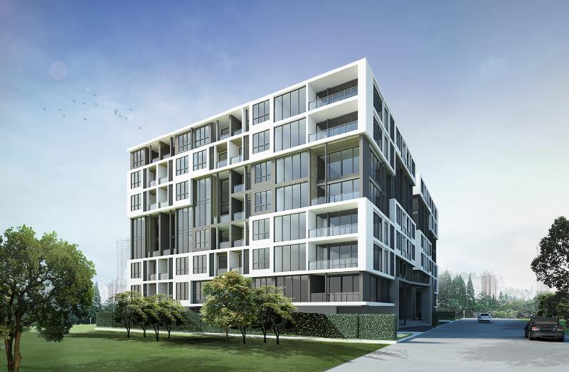 Pratamnak Hill地区新建的8层楼项目。
