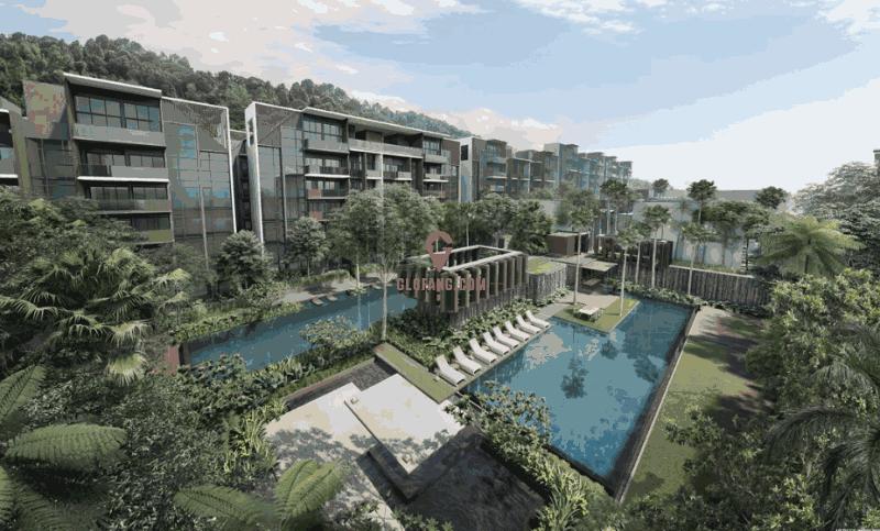 新加坡Kent Ridge Hill背山面海景观公寓