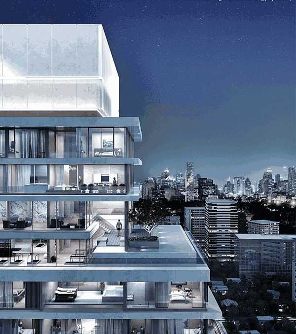 泰国曼谷市中心Lumpini区 金融商业区-红庭⼀号总裁官邸,编号20403