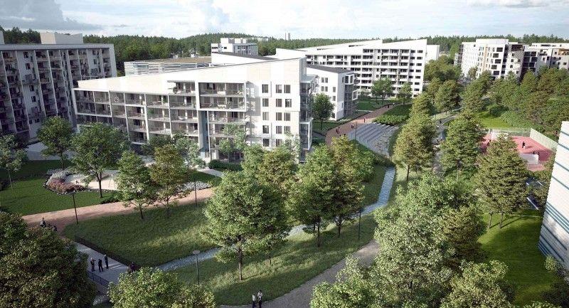 芬兰南部Leppävaara 地区精装修新公寓楼房