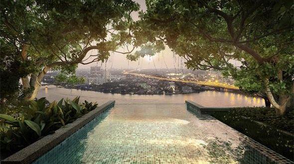 泰国180度一线河景豪宅 精装修靠地铁 风水绝佳 御江一号苑
