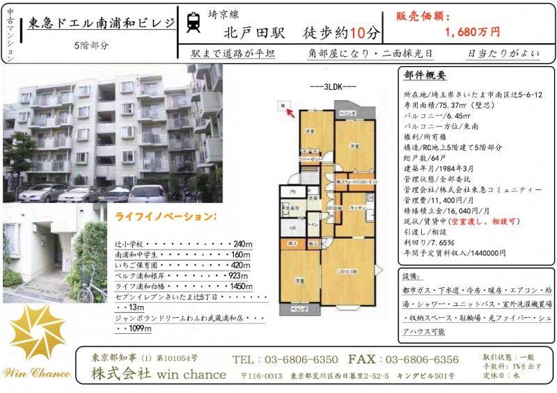 日本-【WinC】强烈推荐---琦玉县人气车站公寓