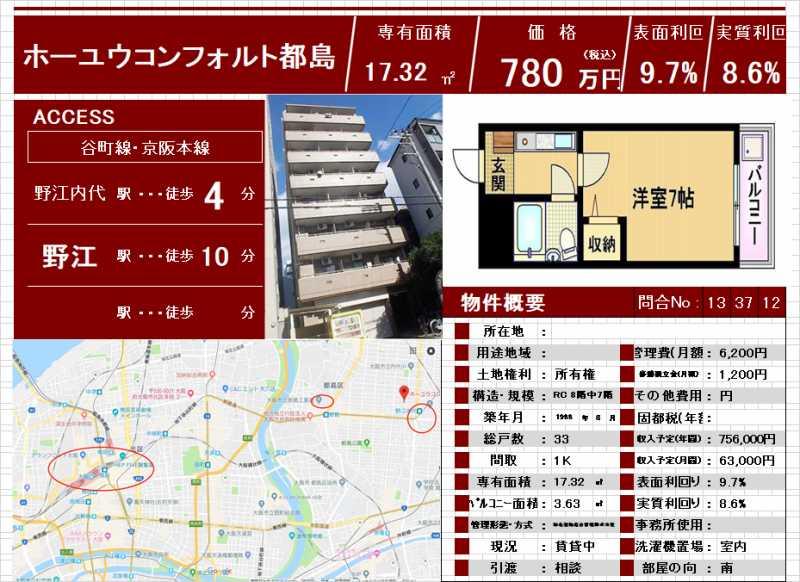 大阪市都岛区公寓