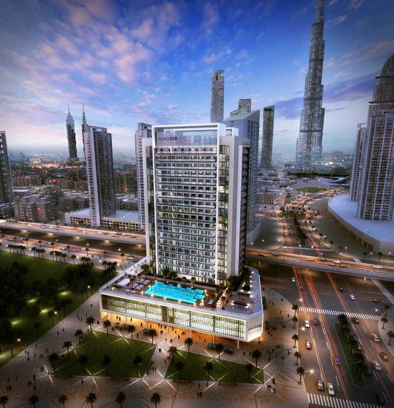 迪拜房产市中心唯一小户型步行哈利法塔迪拜mall5分钟