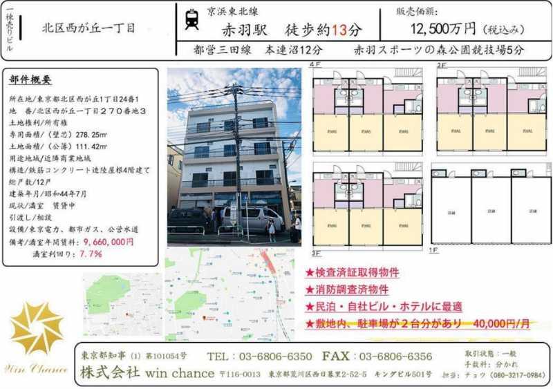日本-【WinC】好评推荐 --东京都北区整栋楼