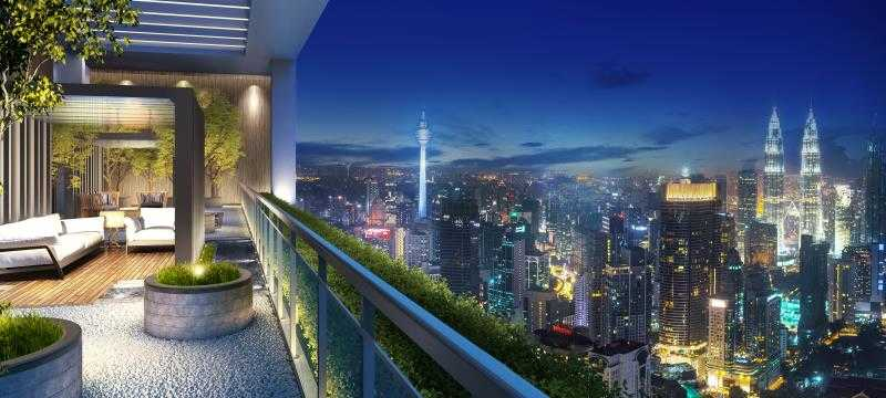 吉隆坡 金山角 地标 雅居乐天汇 黄金地段