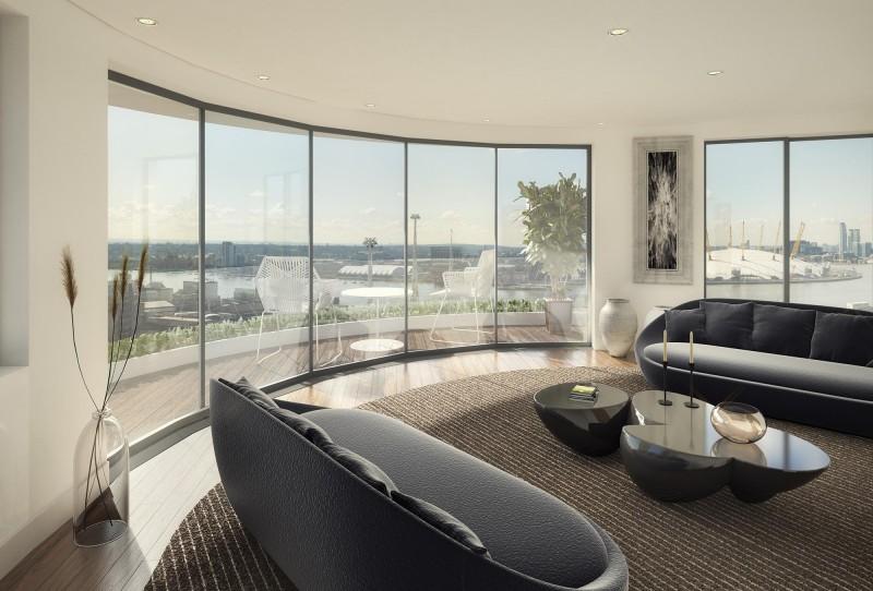 伦敦东区亚洲金融城现房-2或3室