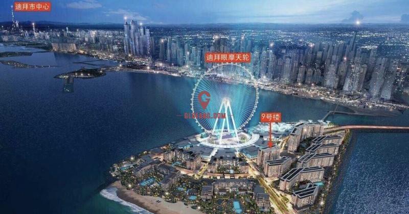 迪拜房产:世界最大摩天轮区域,蓝水岛海景现房,即买即出租