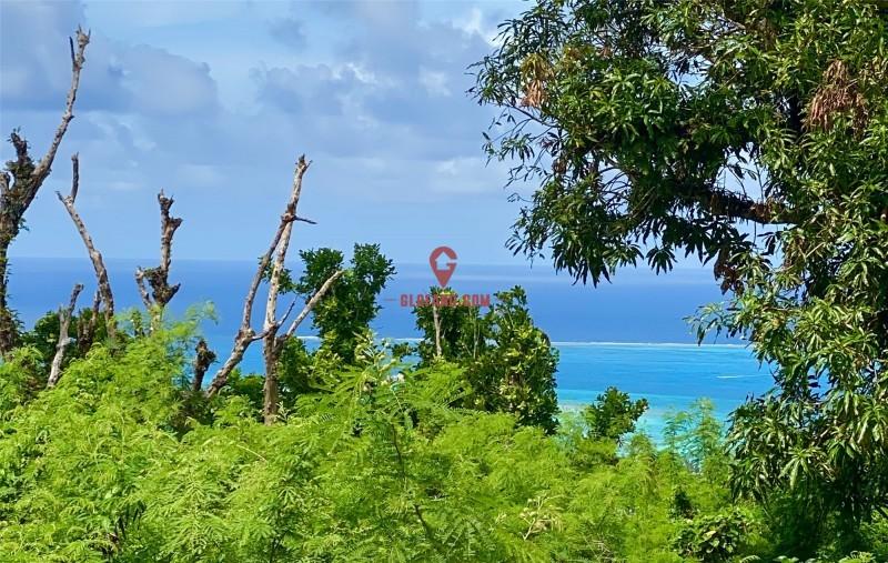 塞班岛一线海景地块,可看七色海洋地块