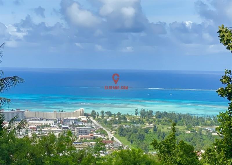 美国塞班岛一线海景地块,可看七色海洋地块,编号38879