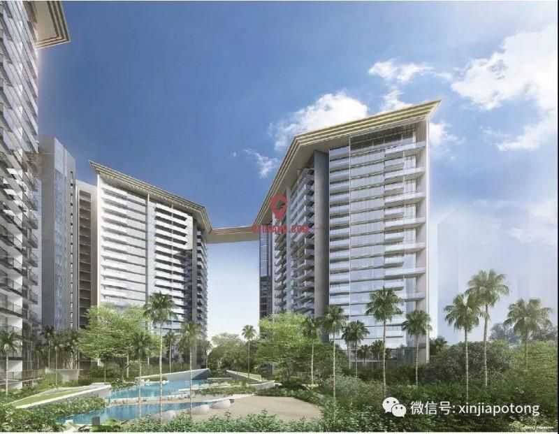 新加坡东海岸大型高档公寓,永久地契