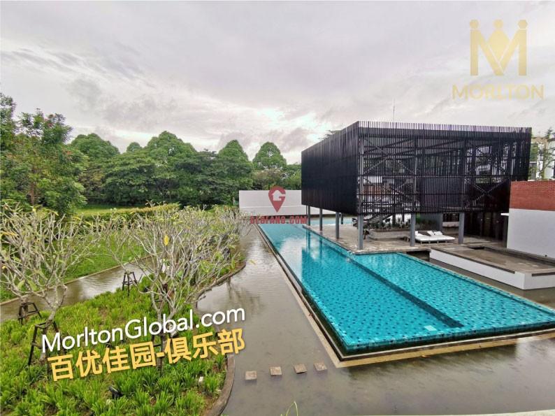 马来西亚新山现房别墅-百优佳园双拼别墅-绿色休闲住宅区