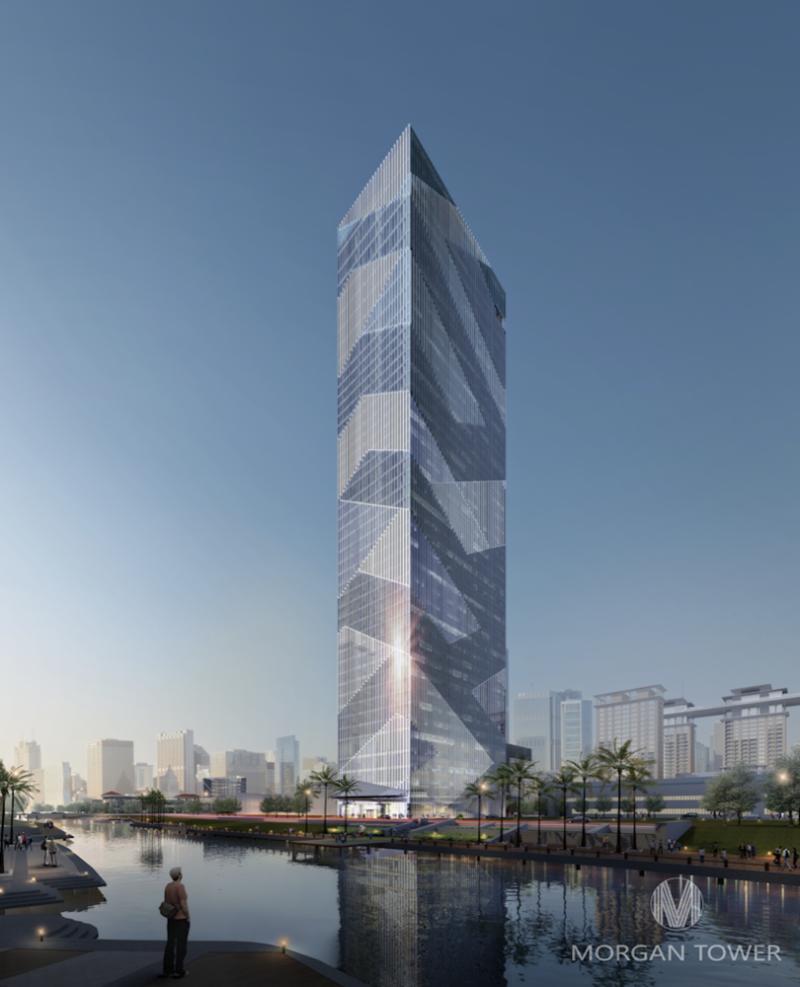 摩根大厦210m 地标建筑