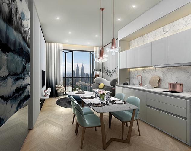 吉隆坡8Conlay高级公寓(1+1卧室1卫浴)