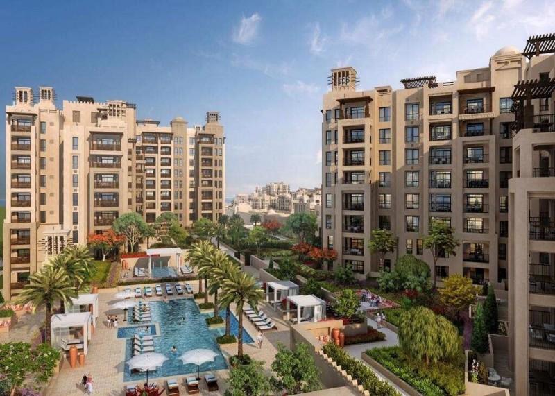 迪拜帆船酒店区域,古堡小高层公寓 DP MJ Living