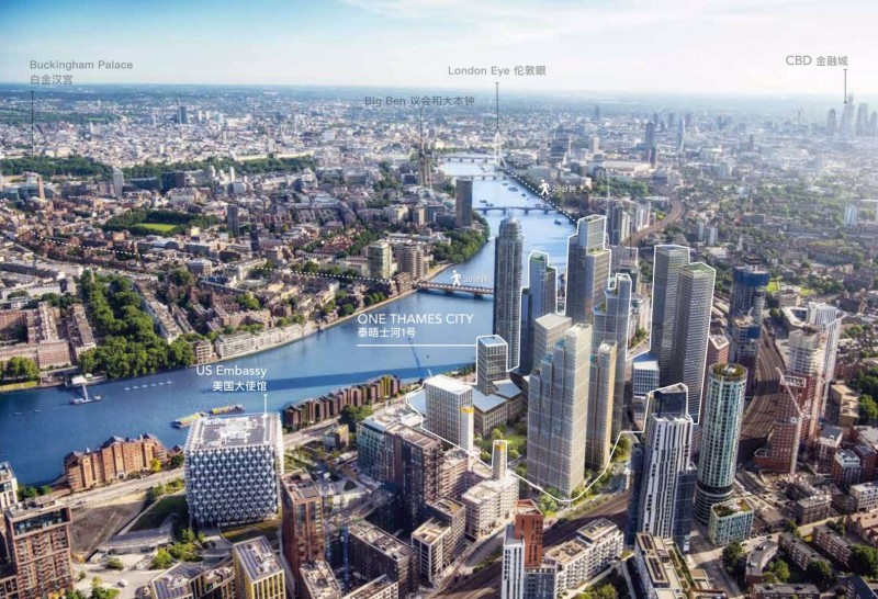 伦敦1区坐拥泰晤士河最大型住宅One Thames City