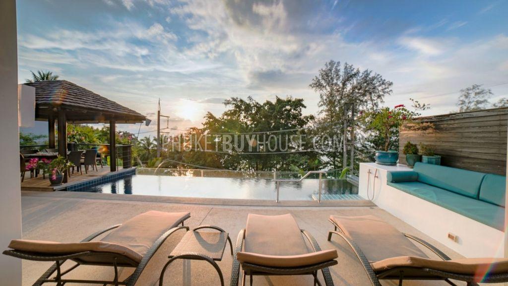 SUR6234:完全翻新的别墅,步行即可到达Surin海滩,拥有海景和私人游泳池