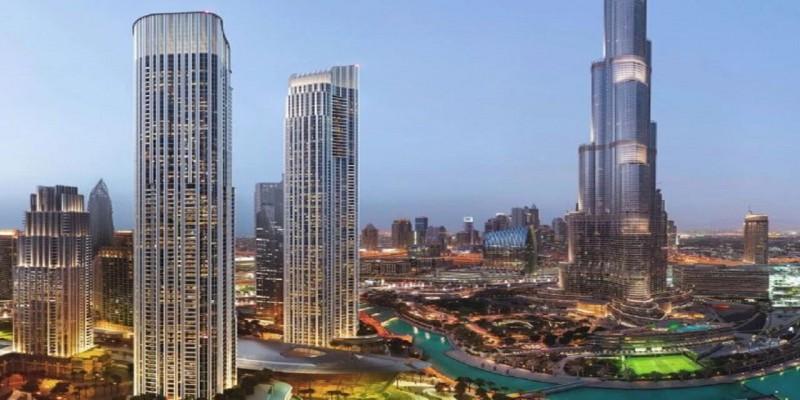 迪拜市中心顶级豪宅公寓 Emaar Primo 音乐喷泉景