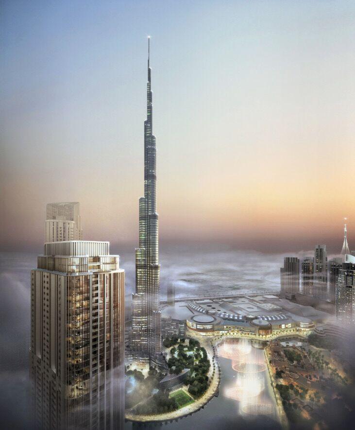 迪拜市中心世界最高塔区域 格兰德公寓Emaar Grande