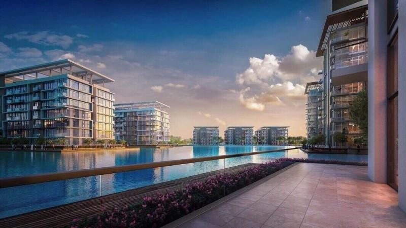 迪拜美丹一区,水晶湖社区公寓 湖景房