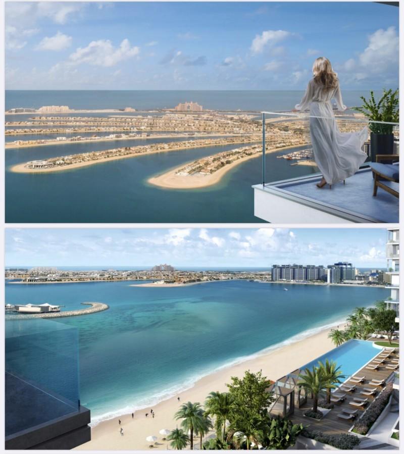 迪拜王子岛海景房 Elie Saab 180度棕榈岛景观