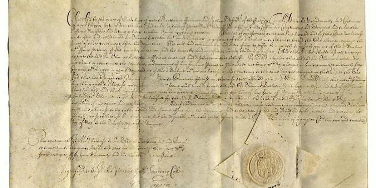 目前存世的最早英国护照,签发于1636年