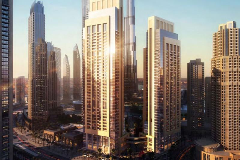 迪拜市中心公寓Act one 交房后3-5年无利息的付款方式