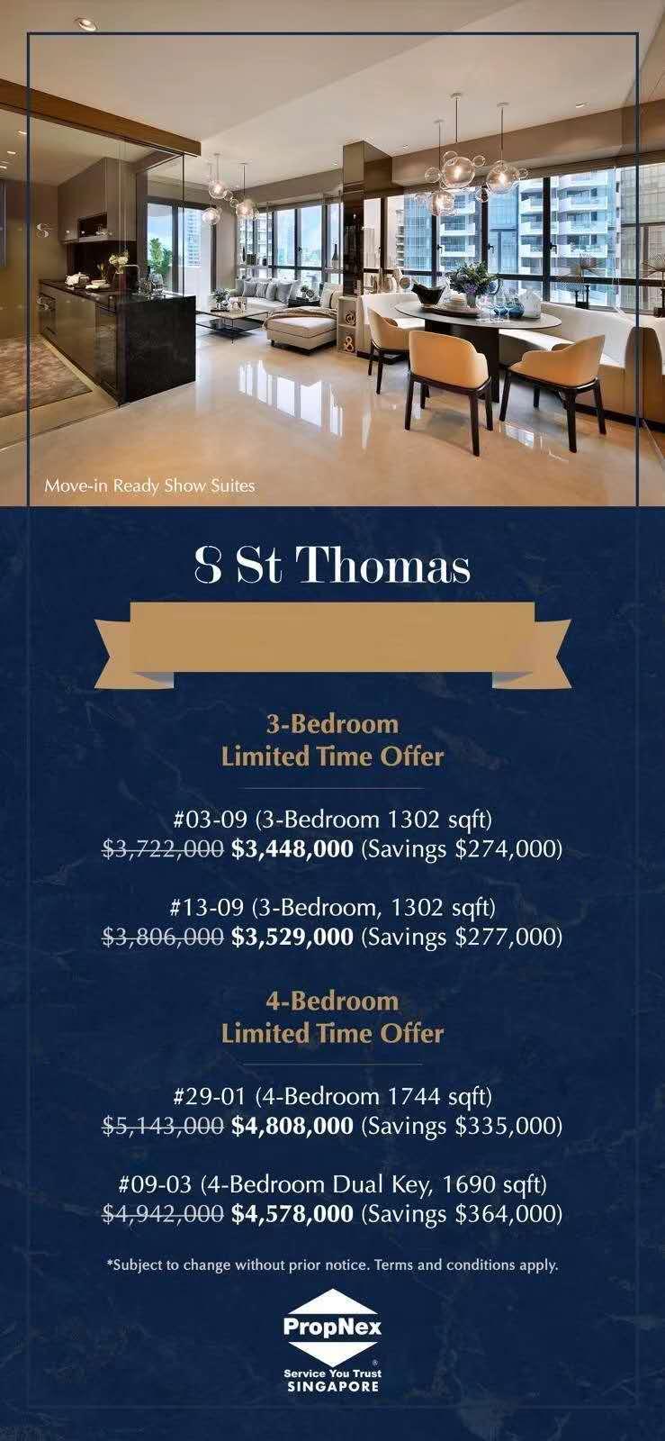 新加坡乌节路永久地契现房豪宅公寓 发展商清盘折扣高达185万