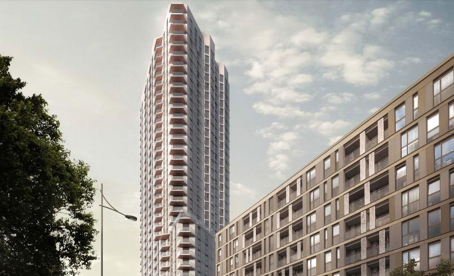 伦敦市中心黄金地段 配套完善的现代小区:贺尔居