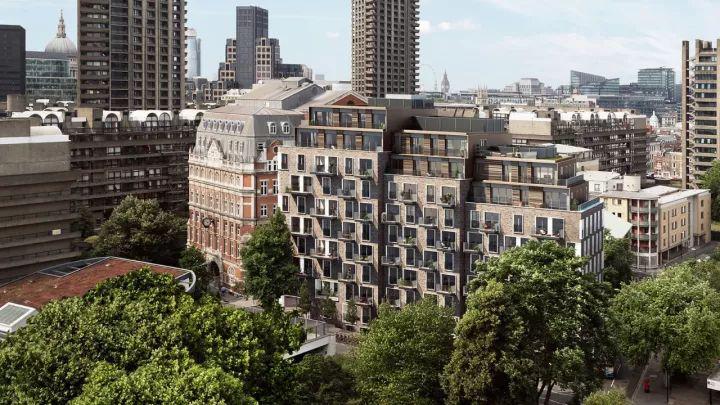 伦敦金融城 绿地庭院 多户型设计:丹尼森公寓