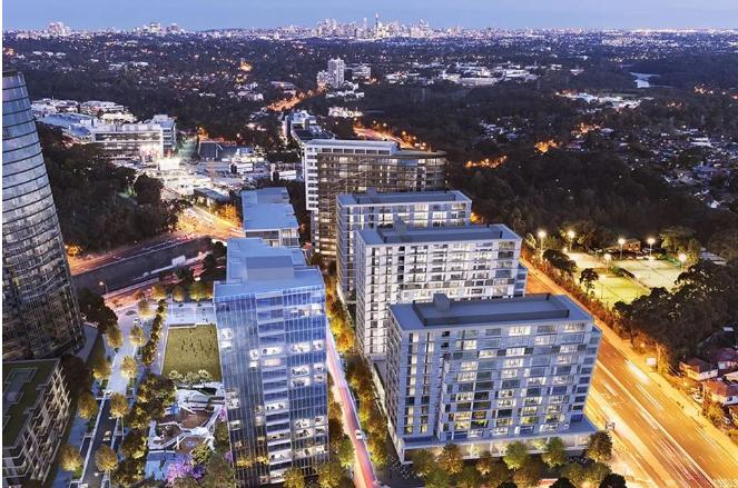 悉尼北区地铁口全新上市公司绿地地标级别项目NBH