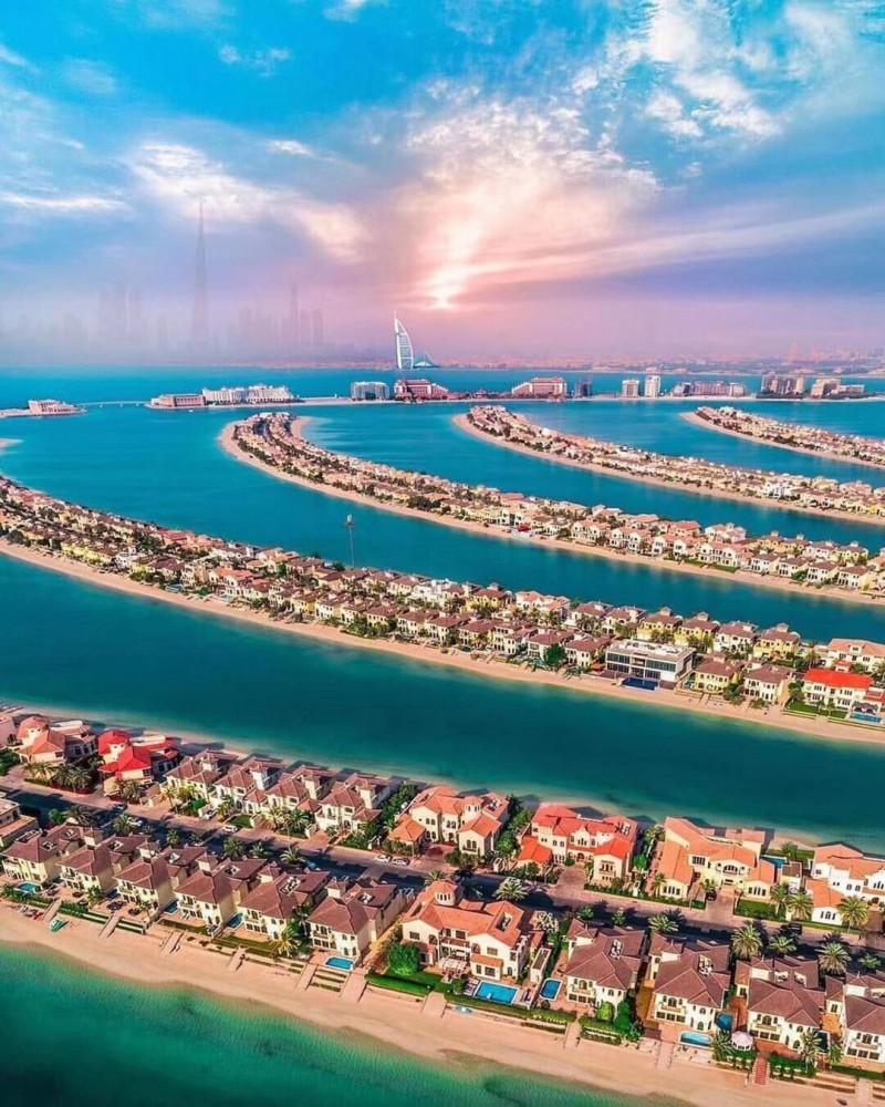 迪拜房产:迪拜王子岛,海景住宅公寓,带私人沙滩,朝向棕榈岛
