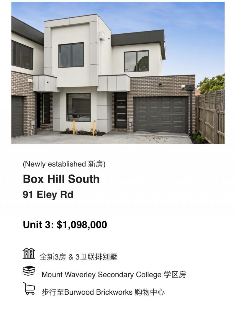 墨尔本华人区Box Hill South全新联排别墅