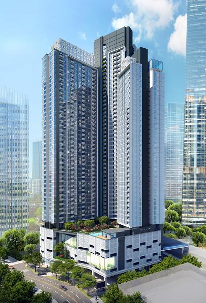 马来西亚吉隆坡国际金融中心的高端公寓中央公馆 - 2+1房