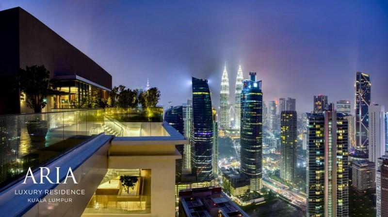 马来西亚吉隆坡KLCC高端奢华公寓ARIA雅乐华庭 - 3房